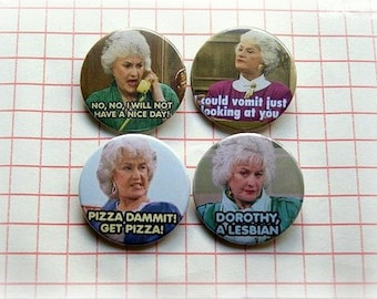 Bea Arthur -Golden Girls- button badge or magnet 1.5 Inch