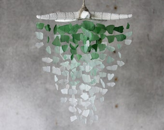 Sea Glass & Starfish Mobile - Grand in Green Ombre