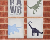 Dinosaur Art Print - 8x10 - Designer Set 7