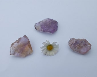 Purple/Yellow Ametrine Crystal, x3, Natural, Untreated, Rough, Raw, Minerals, - 11.3g - 24-26mm - Clear Negative Emotions (24-158)