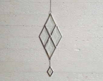Quiver Suncatcher - beveled glass suncatcher - stained glass - rainbows - prism - eco friendly