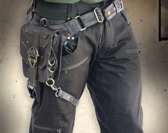 Brown Legion Shorts + Brass Hardware by Loose Lemur Clothing