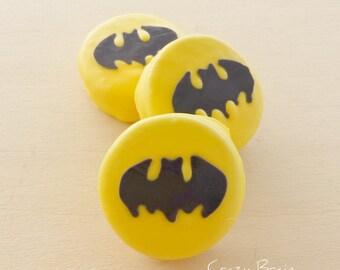 Batman Chocolate Dipped Oreo Cookies (12)