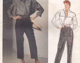 Blouse & Pants Pattern Vogue 1331 by Anne Klein Size 8