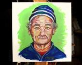 Pop Bill Murray original acrylic painting on canvas