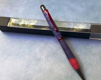 RED and PURPLE twist pen smart screen stylus