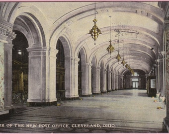 """Ca. 1913 """"New Post Office"""" Cleveland, OH Topographical Picture Postcard - 2126"""