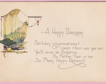 "Ca. 1920's ""Happy Birthday"" Birthday Greetings Postcard - 1623"