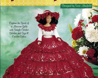 Fiesta Frock Crochet Pattern for 11 1/2 inch Fashion dolls The Needlecraft Shop 991037