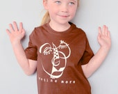 "Artsy Tshirt, Organic T shirt  Children's Clothing Kids Clothes ""Imagine More"" by Uni-T"