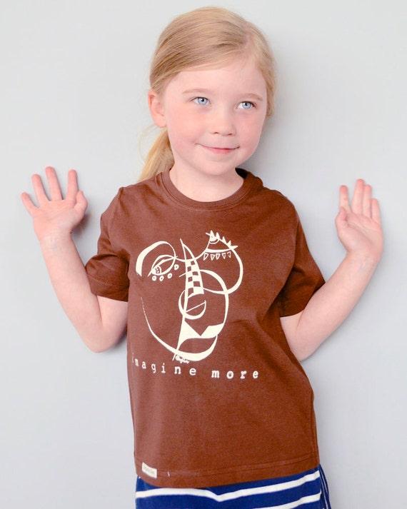 durable modeling Artsy Tshirt Organic T shirt Childrens Clothing Kids b44989d29