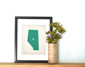 Alberta Canadian Province Personalized Map Art 8x10 Print