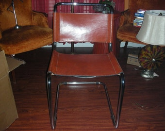 Outstanding Vintage Mart Stam Buffalo Hide  Cantilever Chair