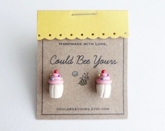 Cupcake Birthday Earrings