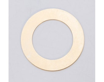 "Brass Large Ring Washer 1-3/8"" 24ga Package of 6"