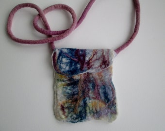 Crossbody Bag Colorful Wool Purse Felted Sleeve Protective Smartphone Cover Teengirl Purse/Bag