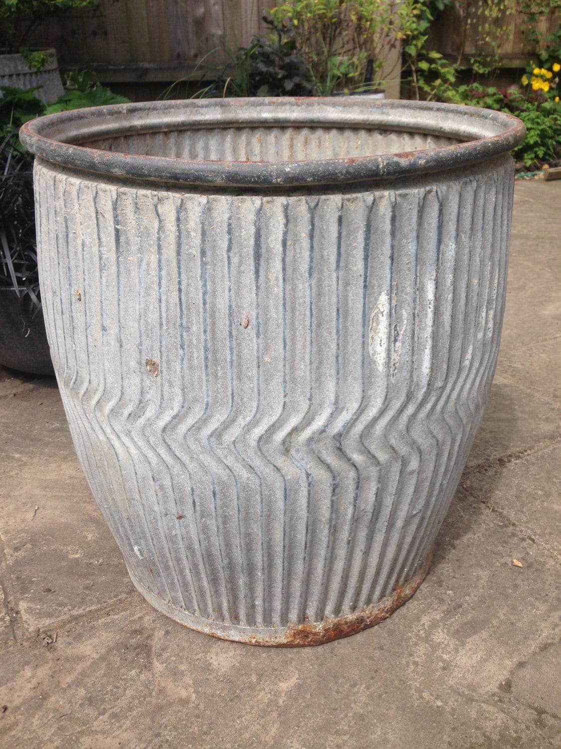 Large Wash Tub : Wash tub dolly tub large plant pot plant container