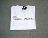 Flower Girl Princess of the Petals Personalized Wedding T-Shirt