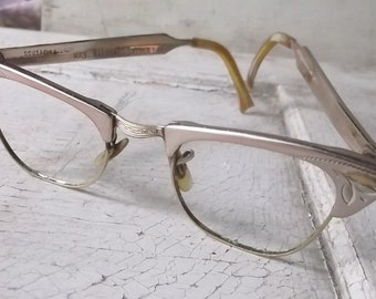 Vintage Cateye Glasses, Cateye Frames, Eyeglasses, 12 K GF, 1/10, Sunglass Frames, Vintage Frames, Aluminum Frames, 1950s, Retro Glasses