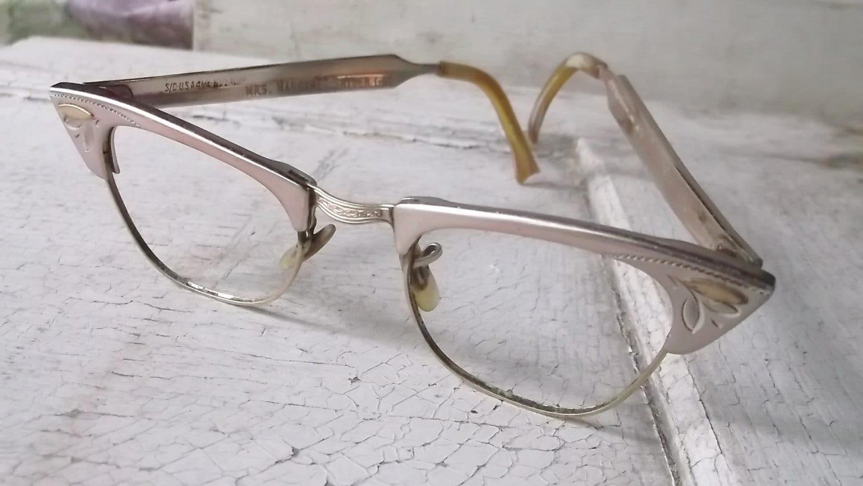 Vintage Cateye Glasses Cateye Frames Eyeglasses 12 K GF