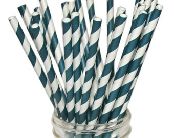 Navy Blue Paper Straws