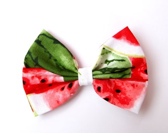 Summer Watermelon Hair Bow - Watermelon Pattern Hair Bow with Clip