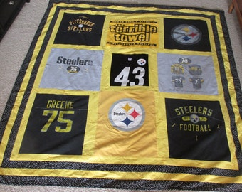 Steelers T Shirt Memory Quilts