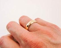 14 Karat Gold Ring - 6mm X 1.5mm 14K Gold Band - Substantial 14K Gold Band - Mens 14K Wedding Band - Pure Thick Gold Ring