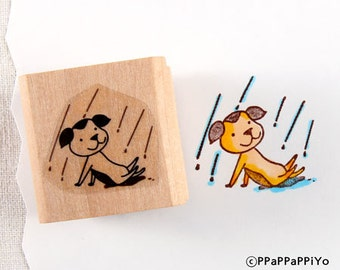40% OFF SALE Rain dog Rubber Stamp