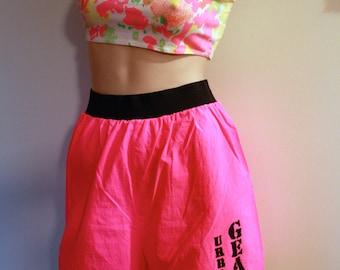 Neon 1990's Nylon Urban Gear Exercise/Lounge Active Wear Shorts