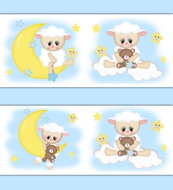 Lamb Wallpaper Border Decal Sheep Nursery Wall Art Stickers