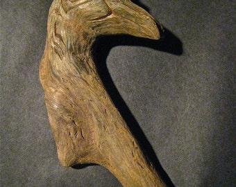 Driftwood Love Bird Worked by Artist With Pocket Knife