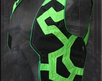 cyber Tron Holster - Shoulder Bag for burning man playa wear neo tribal progressive psytrance fashion wardrobe apparel