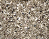 HEX-961, Miyuki Hex 2-Cut Seed Beads, Size 11/0, Fine Silver Finish - Available in 2g, 5g, 7.5g & 10g Pkgs and also in Larger Pkgs
