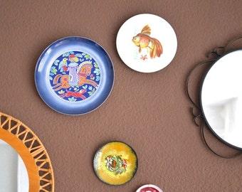 Vintage wall plate German West Luisenburg Bavaria ceramic blue pottery wall decor horse horseman riding