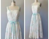 70s Lanz sundress size small / vintage Lanz floral dress