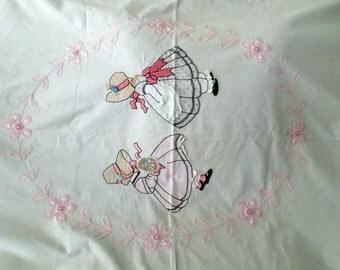 Vintage Handmade Applique Bedspread