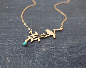 Gold Bird Necklace