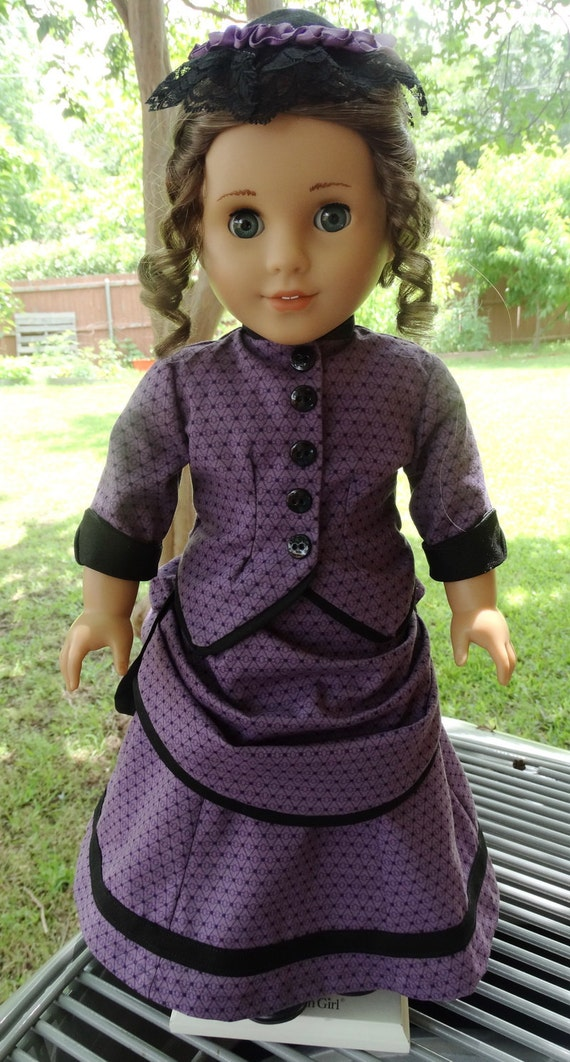 18 Doll Clothes Historical 1870 S Bustle Dress And