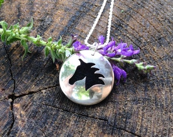 Sterling Silver Essential Oil Horse Hand Cut Silver Pendant. Horse Necklace. Animal Lover. Aromatherapy Diffuser. Ready to Ship.