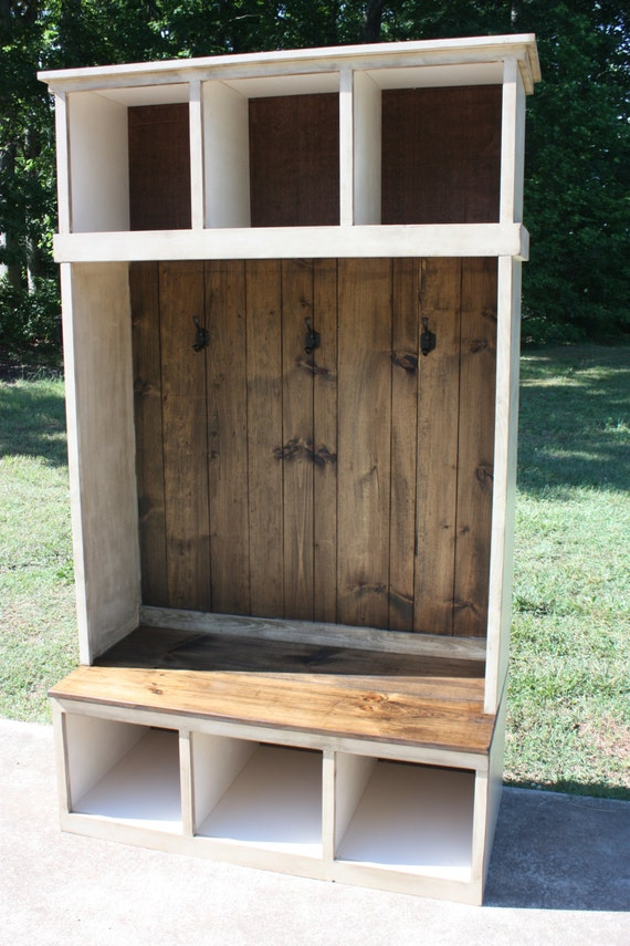 Hall Tree Locker Foyer Free Shipping Country Rustic
