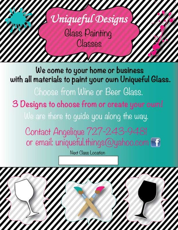 Items similar to custom printable business flyer 8 1 2 for Marketing handouts
