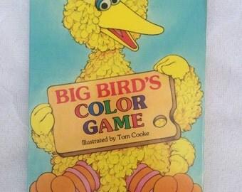 Big Bird's Color Game Book, Sesame Street Book, A Golden Sturdy Shape Book for Children