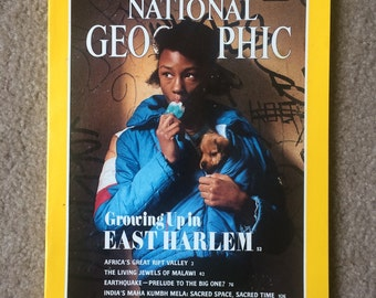 National Geographic Magazine May 1990 - Growing Up in Harlem, Earthquake, India