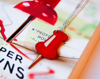 Paper Towns Red Pin Necklace