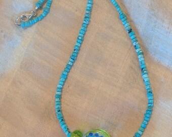 Water Garden Glass Bead Necklace