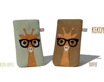 iPhone 7 Sleeve Giraffe Colors Unique / Sleeve for iPhone 7 Plus, SE, 6s Plus, iPhone 6s, iPhone 6, 6 Plus Kekoyu Handmade