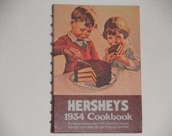 ON SALE Hershey's 1934 Cookbook - 1983 Edition Revised and Expanded - Chocolate Recipes - Vintage Book