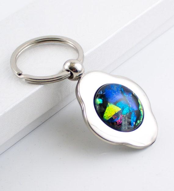 Multi Color Unique Key Chain Key Ring 4 Leaf Clover