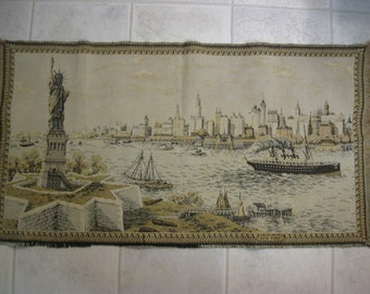 NEW YORK HARBOR Tapestry - New York Harbor Wall Hanging